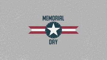 Animation Text Memorial Day on Military Background video