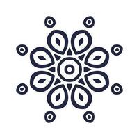 Laser Cutting Flower pattern design vector