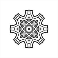 Laser Cutting Flower and Islamic Pattern Design vector