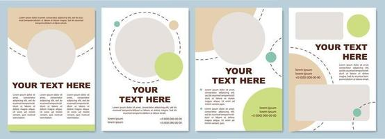 Fancy colored brochure template vector