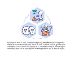 Digital literacy for elderly concept line icons with text vector
