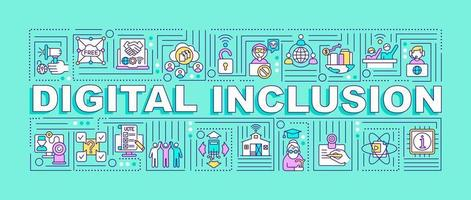 Digital inclusion word concepts banner vector