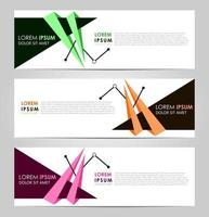 Business Set 3 vector abstract banner design template