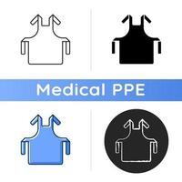 Medical apron icon vector