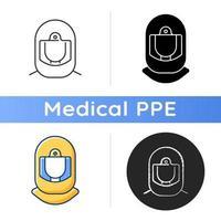 Surgical helmet icon vector