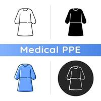Isolation gown icon vector
