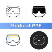 Medical goggles icon vector