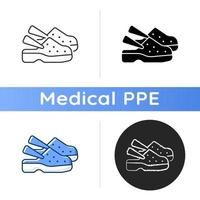 Medical shoes icon vector