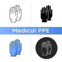Medical gloves icon vector