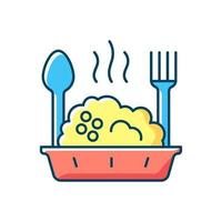 Takeaway porridge bowl RGB color icon vector