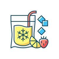 Slushy drinks to go RGB color icon vector