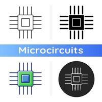 icono de micro partes electrónicas vector