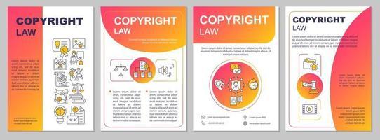 plantilla de folleto de ley de derechos de autor vector