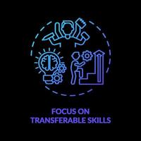 Focus on transferable skills concept icon vector