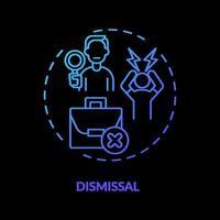 Dismissal concept icon vector