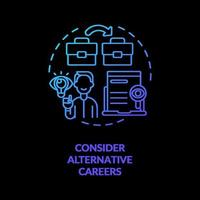 Consider alternative concept icon vector