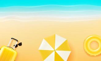 Summer beach rest with beach stuff vector