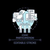 Civic participation turquoise concept icon vector