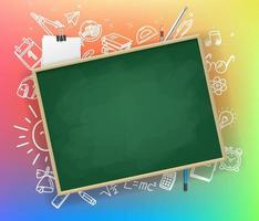 Back to school vector banner with copy space
