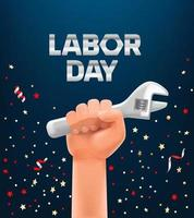 Labor day greeting card vector template