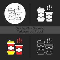Coffee to go dark theme icon vector