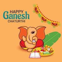 Happy Ganesh Chaturhi vector