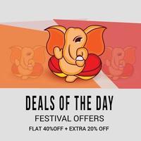 Happy Ganesh Chaturhi deals vector