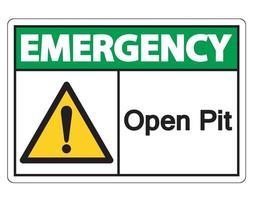 signo de símbolo de emergencia a cielo abierto vector