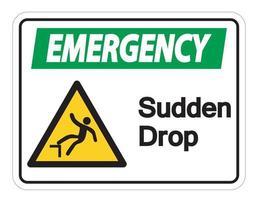 Emergency Sudden Drop Symbol vector