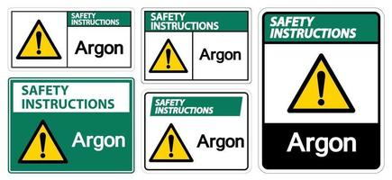 Safety Instructions Argon Symbol vector