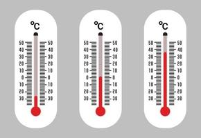 Thermometer icon and Temperature degrees vector