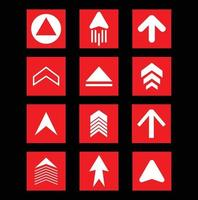 Red arrow collection vector