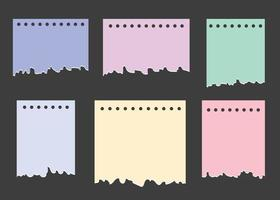 Paper Different Shapes Ripped vector