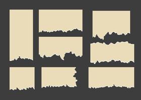papel de diferentes formas rasgado vector