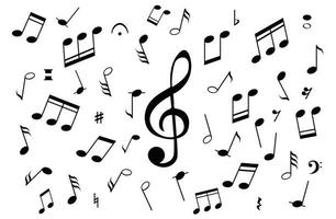 Musical Notes on White Background vector