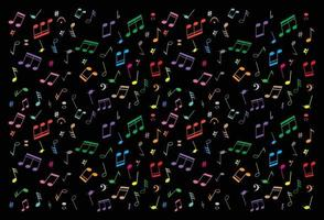 Musical Notes on Background vector