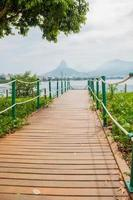 View of Rodrigo de Freitas lagoon in Rio de Janeiro, Brazil photo