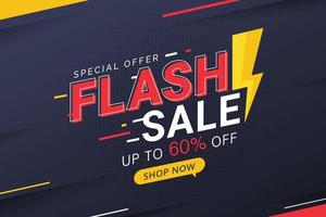 Flash sale discount special offer banner price discount promotion vector
