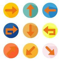 Colorful Abstract Arrows Vector Design Set