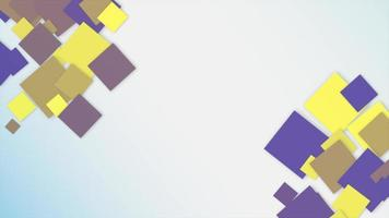 Motion Intro Yellow and Blue Pixels on Abstract Geometric Background video