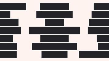 Motion of Black Stripes on White Background video