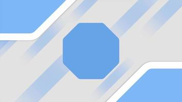 Motion Blue Lines and Hexagons on Abstract Geometric Background video