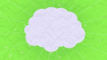 Motion Vertigo Sun Rays and Cloud for Text on Summer Background video