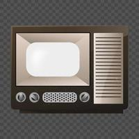 Retro Television on isolated background vector