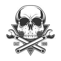 Service skull illustration for t shirt print vector