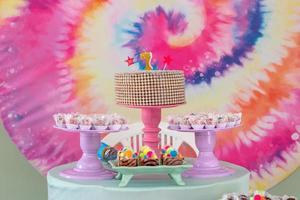 decoración de fiesta de siete años foto