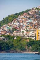 Vidigal hill as seen from Leblon Beach in Rio de Janeiro, Brazil photo