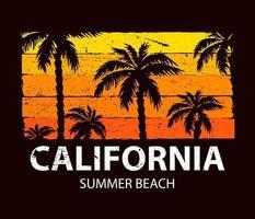 California summer beach vector