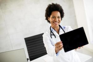 Doctor holding a tablet mock-up photo