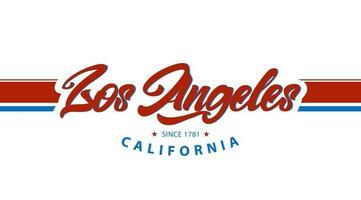 Los angeles California vector